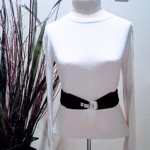 Accessories - Black & Silver Stretch Belt 💕